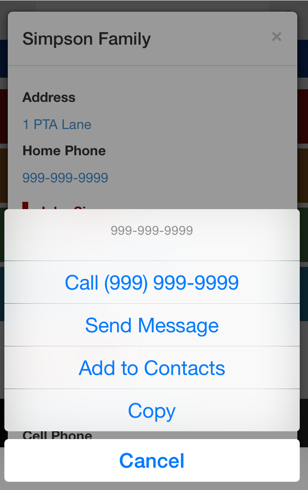 Parent Directory App - Send Text Message to a parent in your school without having to add them to your contacts